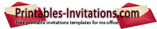 Printables Invitations Templates Samples Party Invitation (quarter-fold) Event Invitation