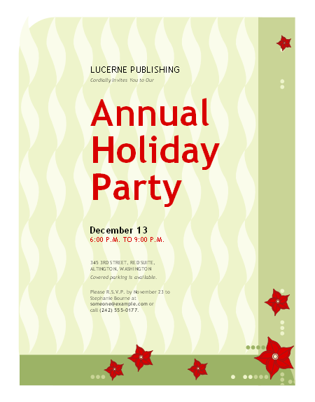 Free Office Party Invitation Templates – Office Party Invitation Template