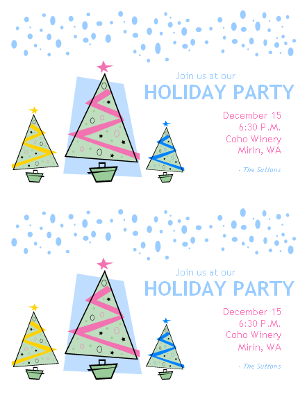Holiday Party Invitation (2/pg.)