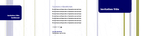 Invitation set tri-panel invitation (Stripes design, for desktop and commercial printing) Printable Invitations