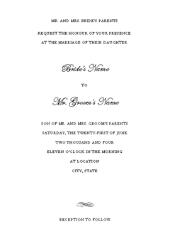 Wedding Invitation (genteel Design)