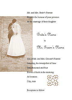Wedding invitation (Juliet design, for commercial printing) Printable Invitations