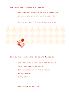 Wedding Invitation (romeo Design)