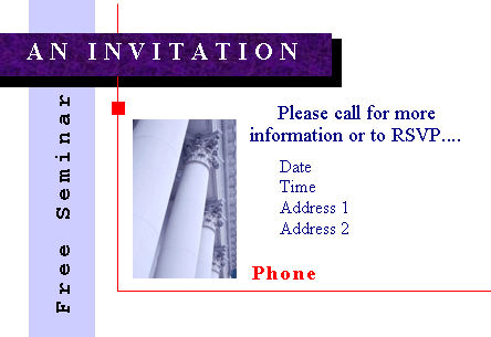 Seminar invitation Printable Invitations