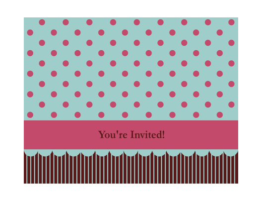 Generic invitation (pink and brown) Printable Invitations