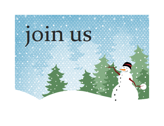 Holiday party invitation (Snowman design) Printable Invitations