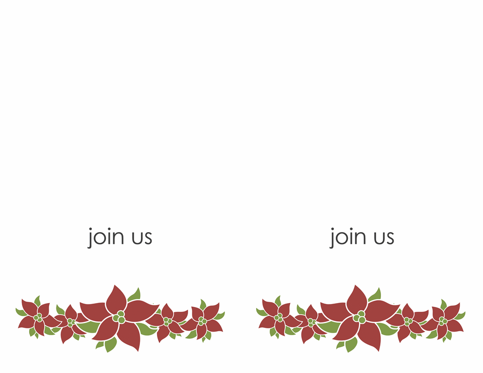 Party invitation (Poinsettia design) Printable Invitations