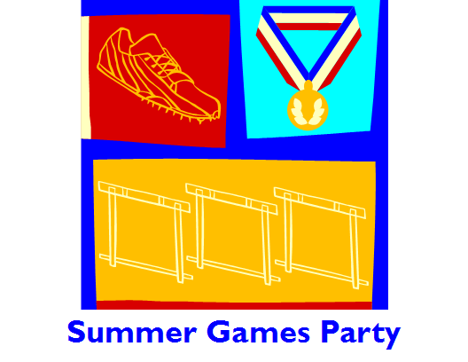 Party Invitation To Watch Summer Games