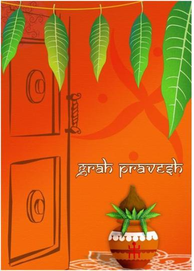 Grah_pravesh Printable Invitations