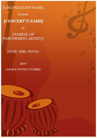 concert invitation template koni polycode co
