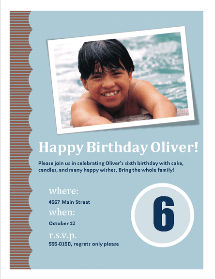 Birthday invitation Printable Invitations