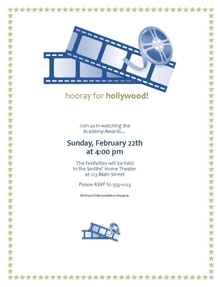 Movie Awards Party Invitation