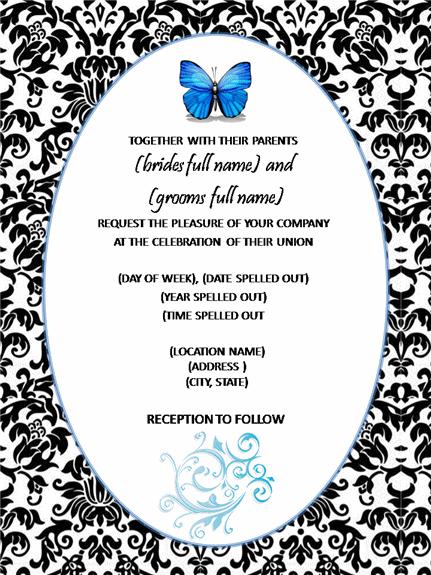 Damask Blue Wedding