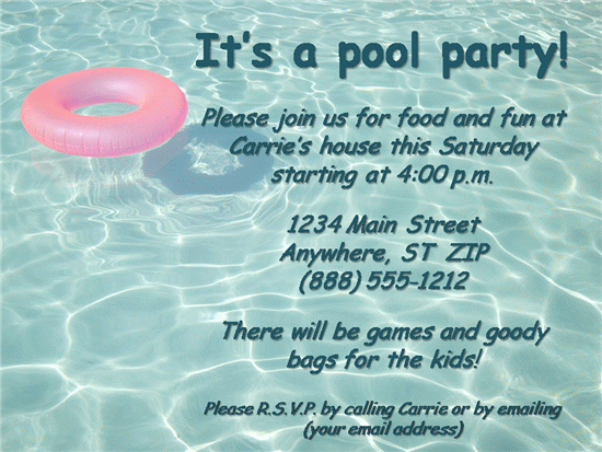 pool party invitation template – Pool Party Invitation Template