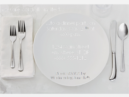 Italian dinner party invitation template stopboris Images