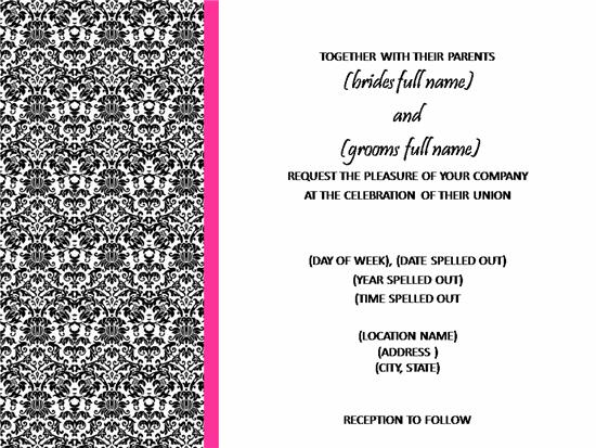 Damask Pink Wedding