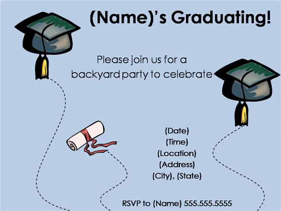 Graduation party template insrenterprises graduation party template stopboris Choice Image