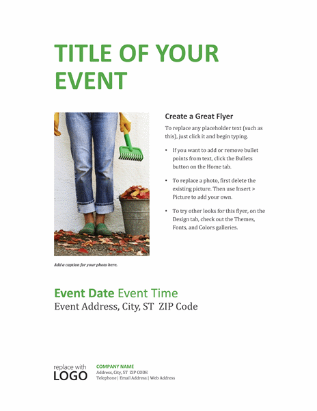 Business Event Invitations In Green Theme Design