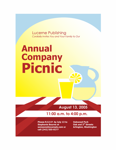 Company picnic invitation flyer Printable Invitations