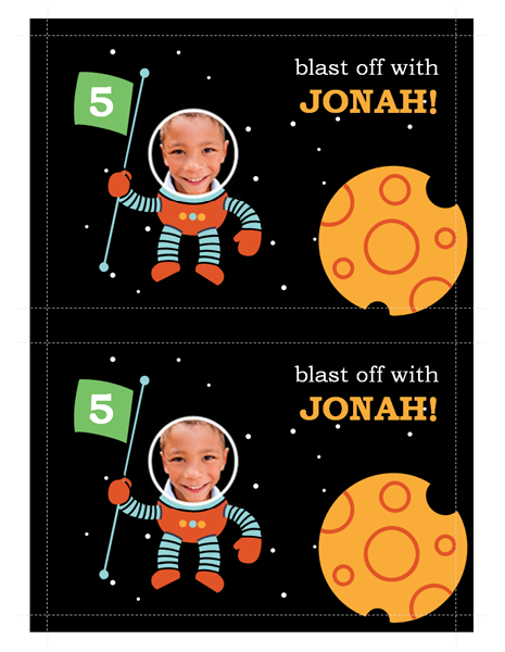 Space party invitation Printable Invitations