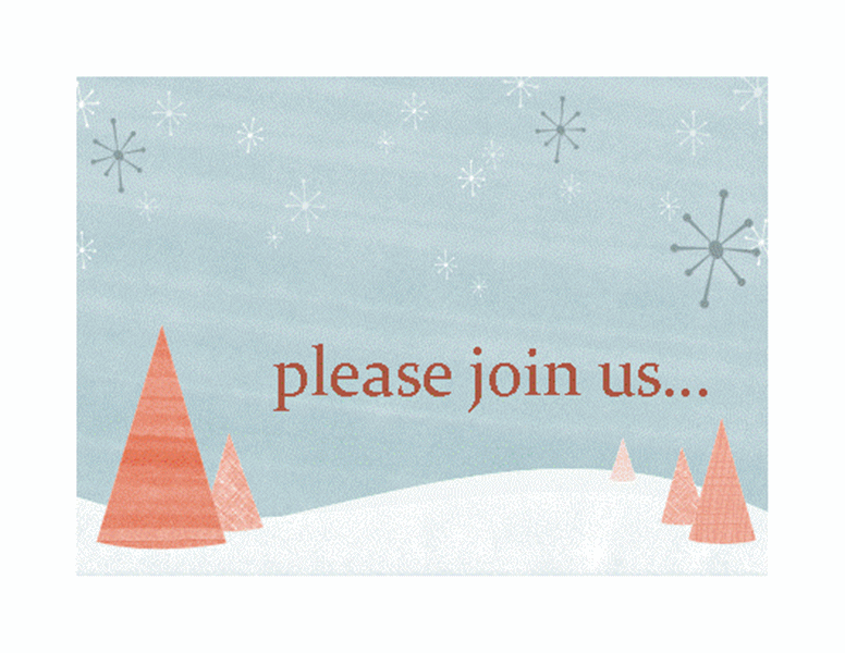 Winter Holiday Event Invitation Printable Invitations
