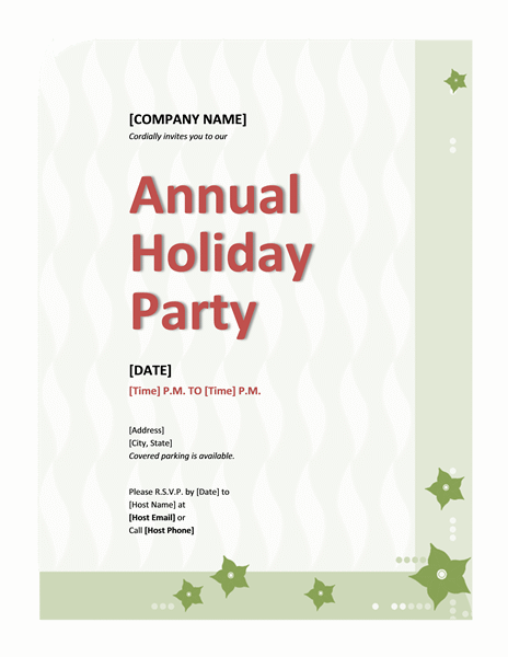 Company holiday party invitation Printable Invitations