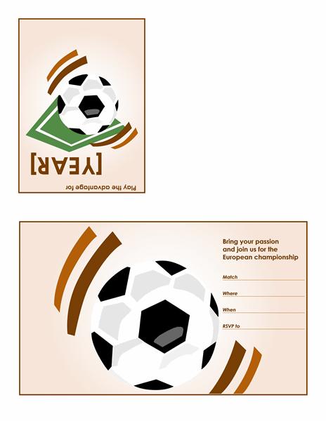 Soccer party invitation (quarter-fold) Printable Invitations