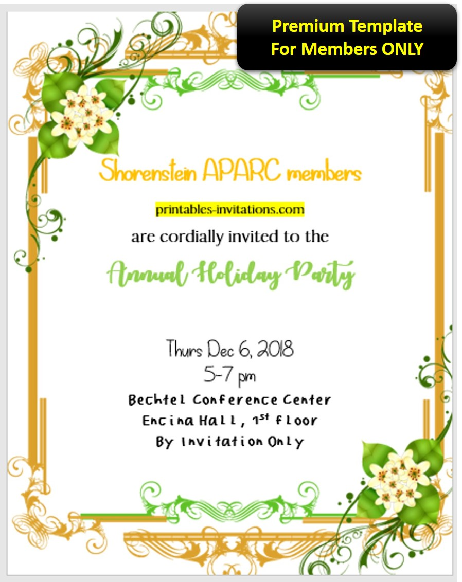 Corporate Annual Party Invitation