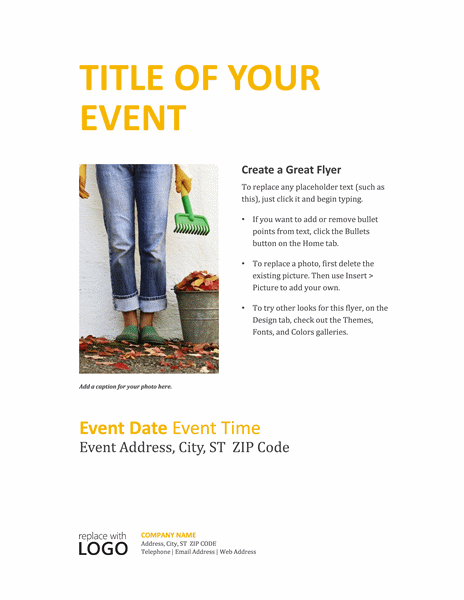 Small Business Special Event Flyer