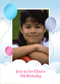 Photo Party Invitation (balloons Design, Half-fold)