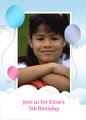 Photo Party Invitation (balloons Design, Half-fold)