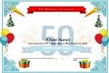 Cool 50th Birthday Invitations Templates Ideas