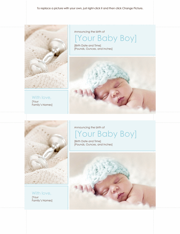 Download Baby Boy Birth Announcement Cards Australia Free – Birth Announcement Cards Australia