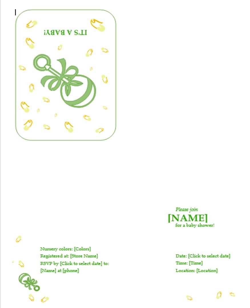 baby shower invitation templates free printable invitations