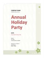 Company Holiday Event Party Invitation Templates