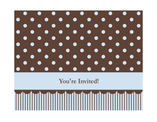 Download Free Printable Invitations of Generic invitation (blue and brown)