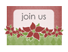 Holiday Party Invitation (poinsettia Design)