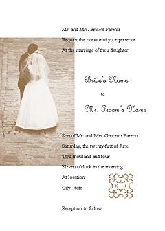 Wedding Invitation (juliet Design, For Commercial Printing)