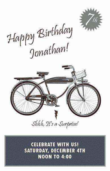 Grey-color Birthday Party Invitation