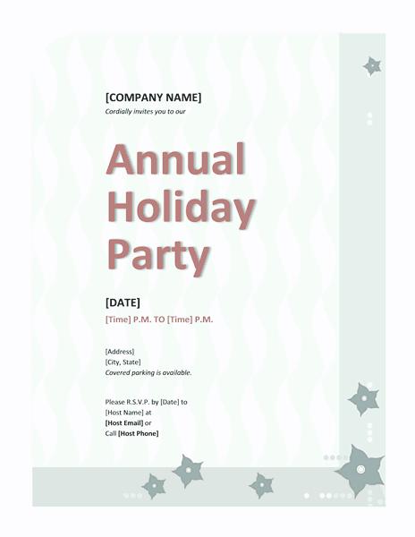 Blue-color Company Holiday Party Invitation