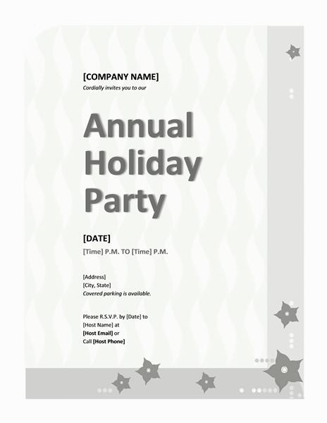 Grey-color Company Holiday Party Invitation