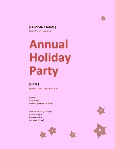 Purple-color Company Holiday Party Invitation