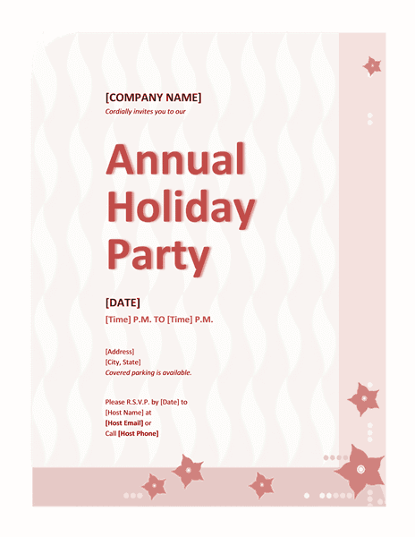 Red-color Company Holiday Party Invitation