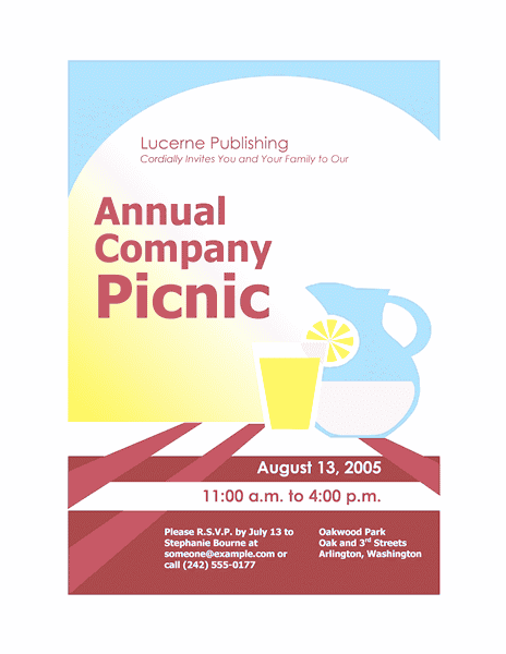 download free printable invitations of company picnic
