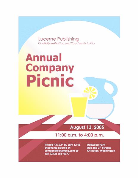 Blue-color Company Picnic Invitation Flyer