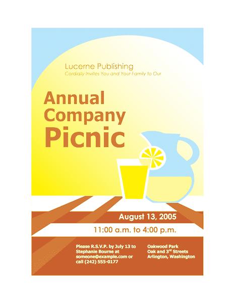 Green-color Company Picnic Invitation Flyer