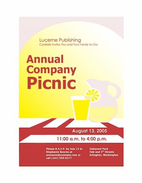 Red-color Company Picnic Invitation Flyer