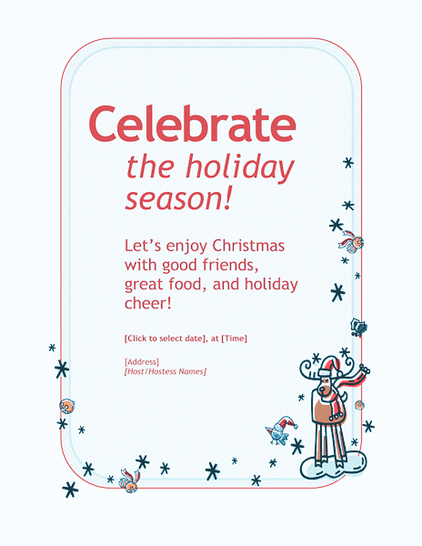 Blue-color Customizable Personal Holiday Party