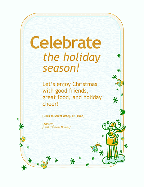 Green-color Customizable Personal Holiday Party