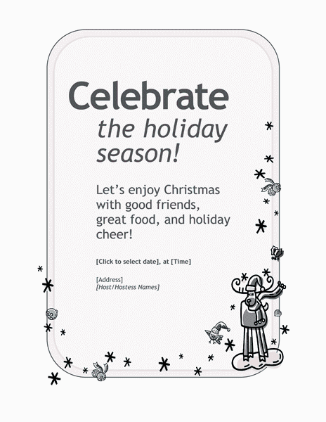 Grey-color Customizable Personal Holiday Party